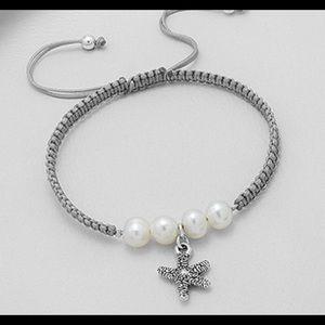 Jewelry - STERLING SILVER STARFISH & PEARL BRACELET 💕